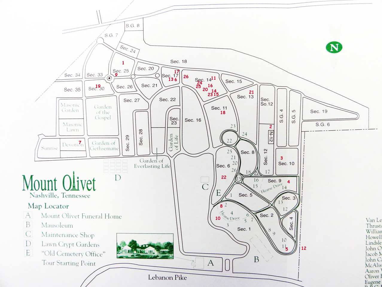 Mt Olivet Cemetery Map History of the Restoration Movement Mt Olivet Cemetery Map